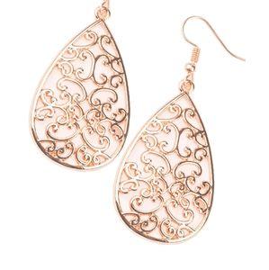 Copper earrings paparazzi